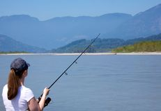 Fishing on the Fraser River Royalty Free Stock Images