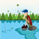 Fishing Fun Royalty Free Stock Photography