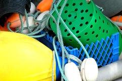 Fishing gear on boat. Stock Photos