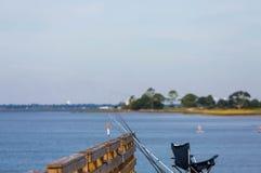 Fishing Gear on Pier Stock Photo