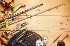 Fishing gears Stock Photo