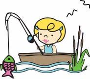 Fishing Girl Stock Image