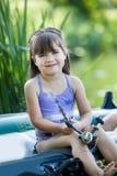 Fishing girls Stock Image