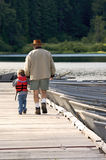 Fishing with Grandpa Stock Images