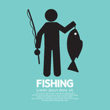 Fishing Graphic Sign Stock Photos