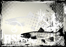 Fishing grunge background Royalty Free Stock Image