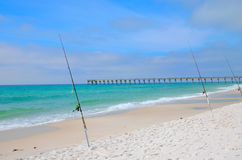 Fishing in the Gulf of Mexico, Panama City, FL Stock Images