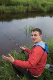 On fishing Stock Photo