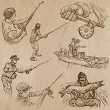 Fishing - An hand drawn vector pack Stock Image