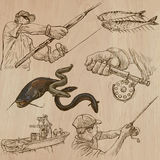 Fishing - An hand drawn vector pack Stock Photo