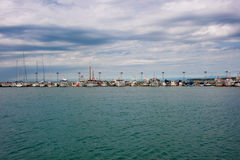 Fishing Harbor. Full Of Fishing Boats Royalty Free Stock Photography