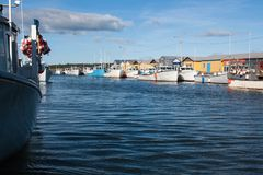 Fishing harbor Stock Images