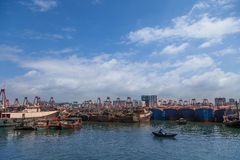Fishing harbor of Beihai,China Royalty Free Stock Photos