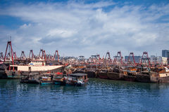 Fishing harbor of Beihai,China Stock Photos