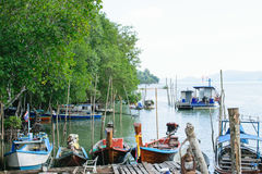 Fishing harbor Stock Image