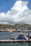 Fishing harbor of Dingle Stock Images