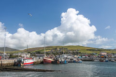 Fishing harbor of Dingle Royalty Free Stock Photography