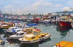 The fishing harbor Royalty Free Stock Photo