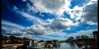 Fishing Harbor Liopetri Cyprus (4k) stock video