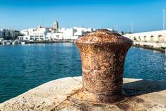 Fishing harbor in Mola di Bari Stock Image