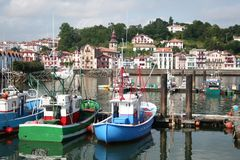 Fishing harbour. Small fishing harbour in the south of France Stock Image
