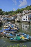 FISHING HARBOUR. Harbour in the fishing village of Polperro, Cornwall, England Royalty Free Stock Photos