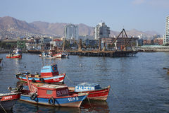 Fishing Harbour in Antofagasta, Chile Stock Photography