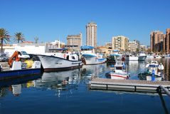 Fishing harbour, Fuengirola. Royalty Free Stock Photography