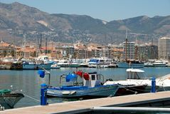 Fishing harbour, Fuengirola. Stock Images