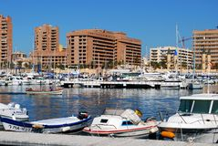 Fishing harbour, Fuengirola. Stock Photos
