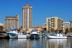 Fishing harbour, Fuengirola. Stock Photo