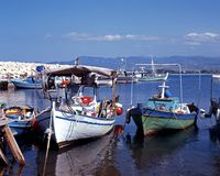 Fishing harbour, Latchi, Cyprus. Royalty Free Stock Photo
