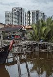 Fishing harbour in Malaysia. stock photography