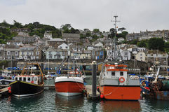 Fishing harbour of Newlyn. Cornwall, England, UK Royalty Free Stock Photos