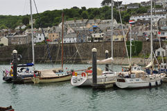 Fishing harbour of Newlyn. Cornwall, England, UK Royalty Free Stock Images