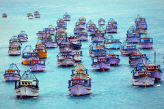 Fishing Harbour Pamban Royalty Free Stock Photography