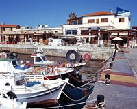 Fishing harbour, Paphos. Stock Photography