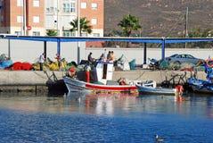 Fishing harbour, Puerto de la Atunara. Stock Photos