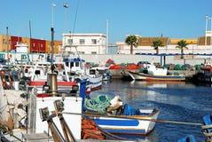 Fishing harbour, Puerto de la Atunara. Royalty Free Stock Photos