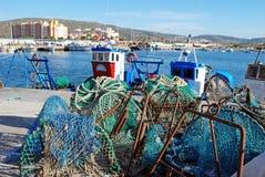 Fishing harbour, Puerto de la Atunara. Stock Images