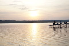 Fishing hobby. Natura relax jezioro ryba Stock Photo