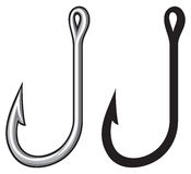 Fishing hook. Fish hooks for fishing, small hooks Stock Images
