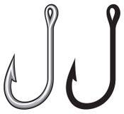 Fishing hook. Fish hooks for fishing, small hooks royalty free illustration