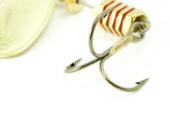 Fishing hook. Close up of Fishing hook stock photo