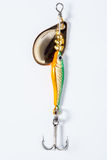 Fishing hook with bait Royalty Free Stock Photography