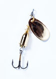 Fishing hook with bait Stock Photos
