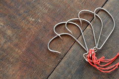 Fishing Hooks Royalty Free Stock Images