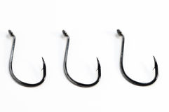 Fishing Hooks Royalty Free Stock Photography