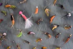 Fishing hooks. In group beautiful sweet Stock Image