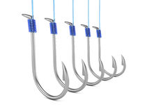 Fishing hooks Stock Photos